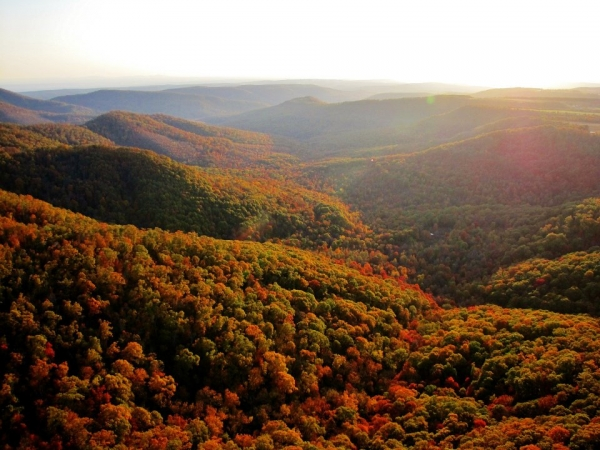 Autumn colors overlooking Byrd's campground. Photo by Brian Emfinger.