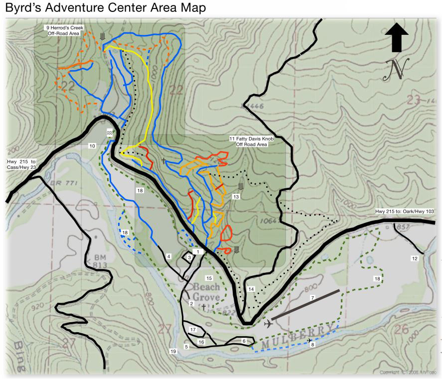 Byrd's Mountain Bike Trails