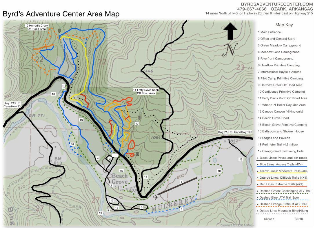 Byrds Trail Map Byrd S Adventure Center