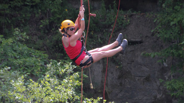 Repelling and Rock Climbing at Byrds