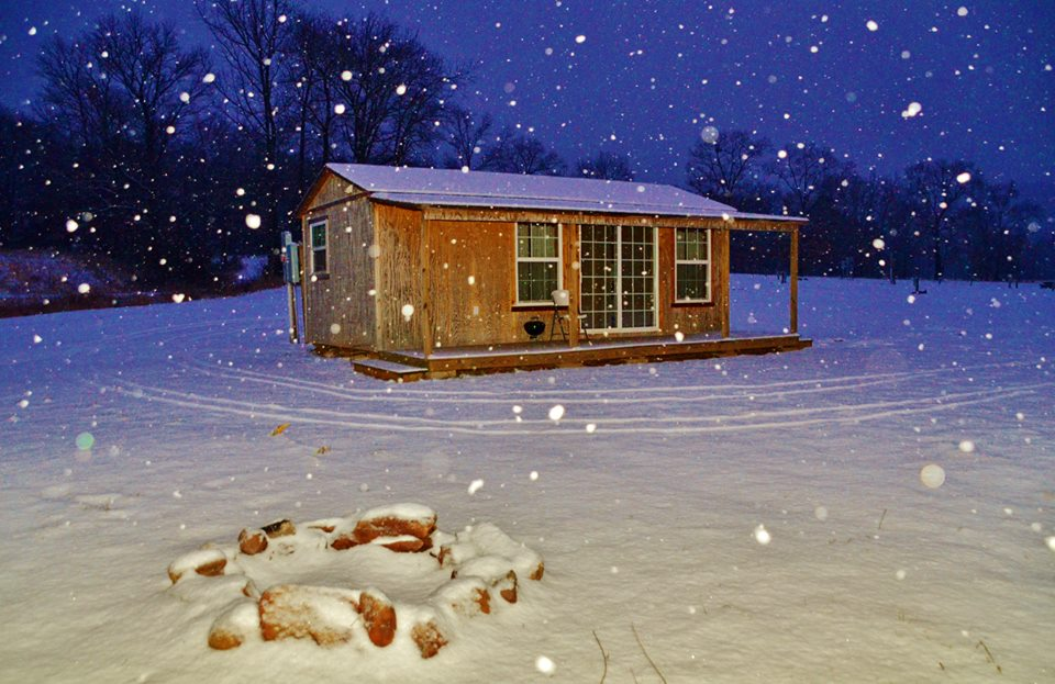 byrds cedar cabin snow