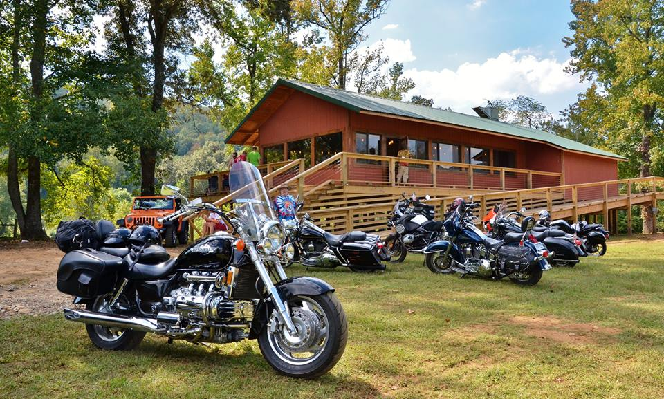 Motorcycles at Byrd's Adventure Center