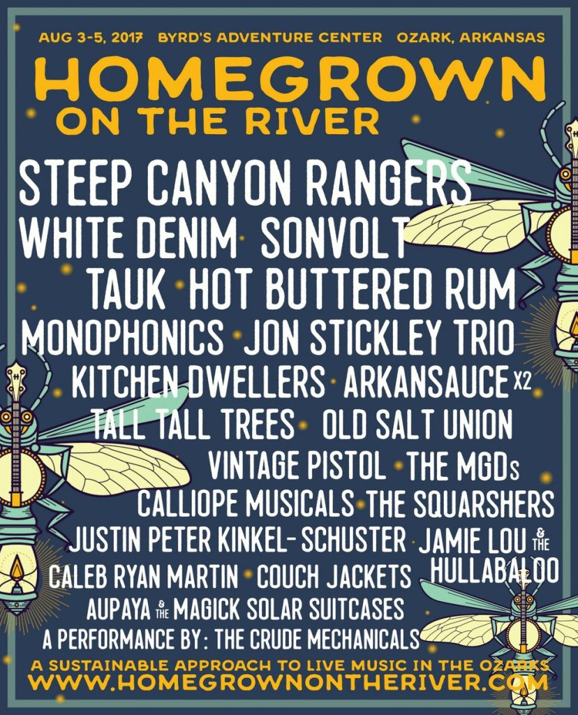 Homegrown on the River Lineup