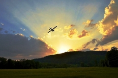 byrds airstrip cessna sunset